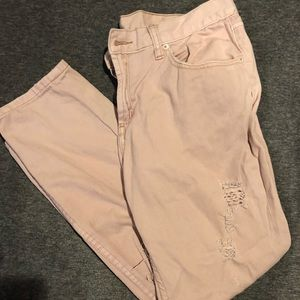 BDG pale pink destroyed bf jeans size 30